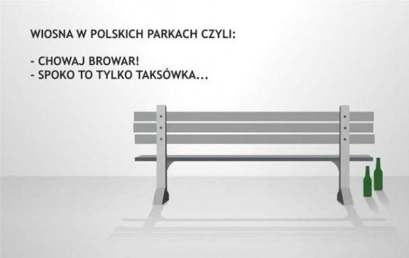 Wiosna w polskich parkach